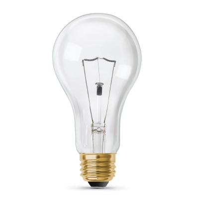 200-Watt High Lumen Clear A21 Medium E26 Soft White (2700K) Utility Incandescent Light Bulb (1-Bulb)