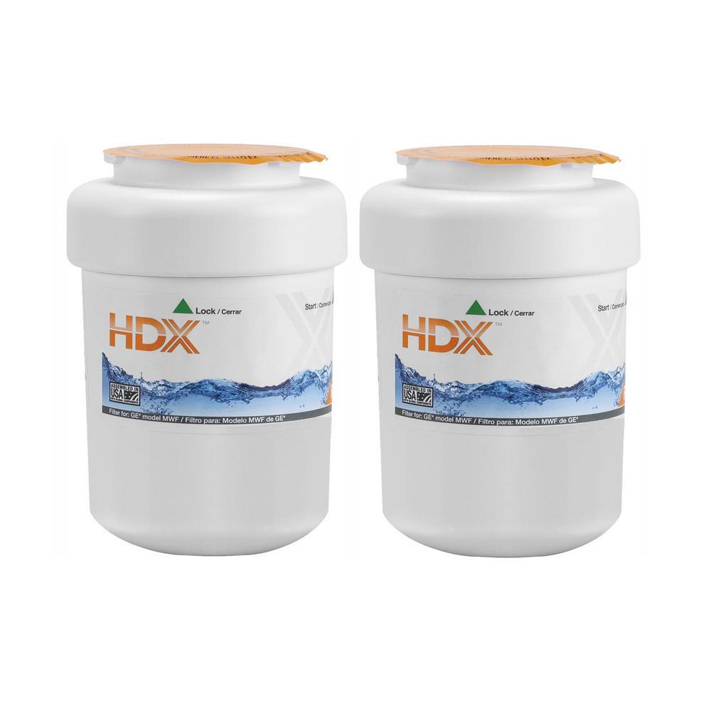 HDX HDX Water Filter for GE Refrigerators (2-Pack)
