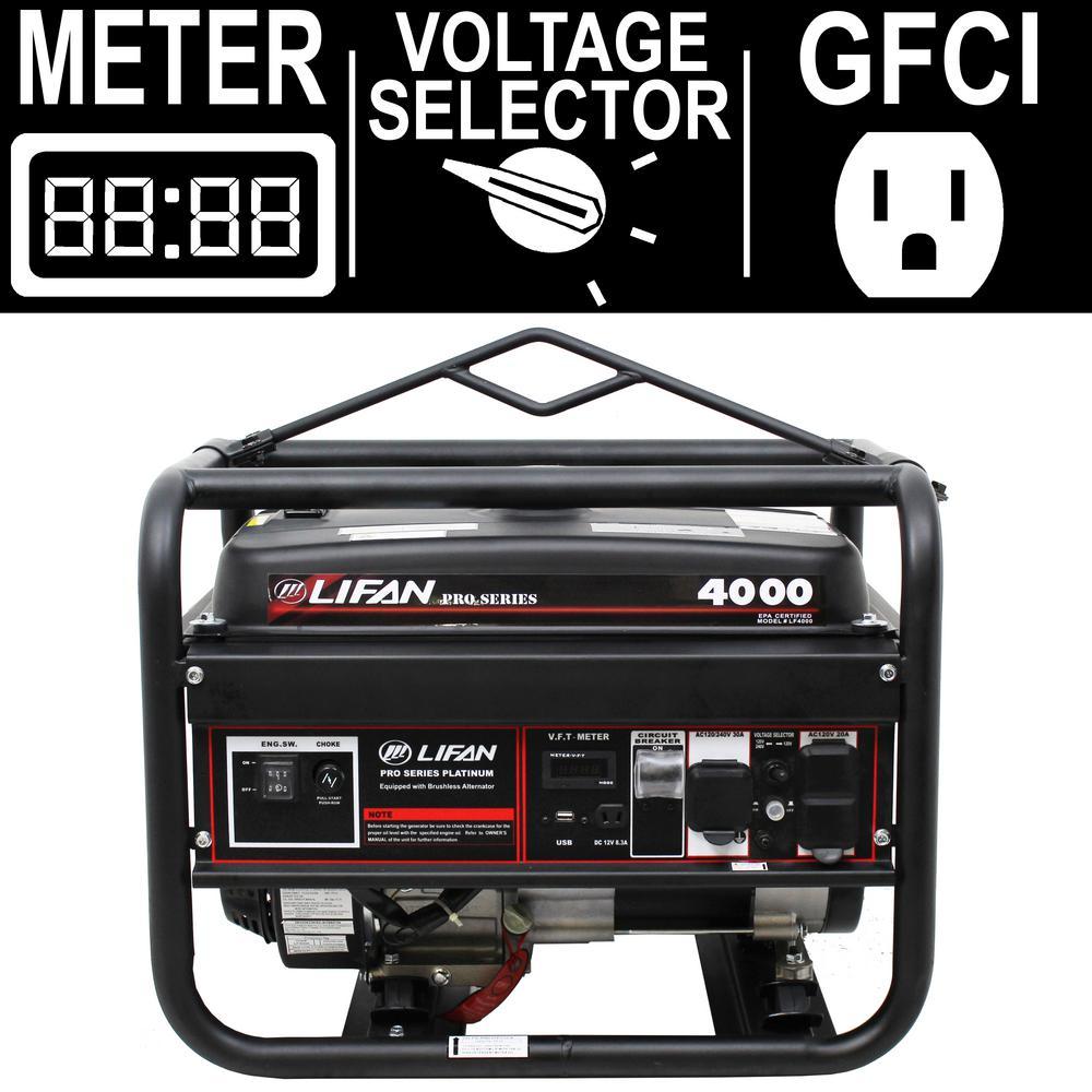 Pro Series 4,000-Watt 212cc Gasoline Powered Portable Gen...