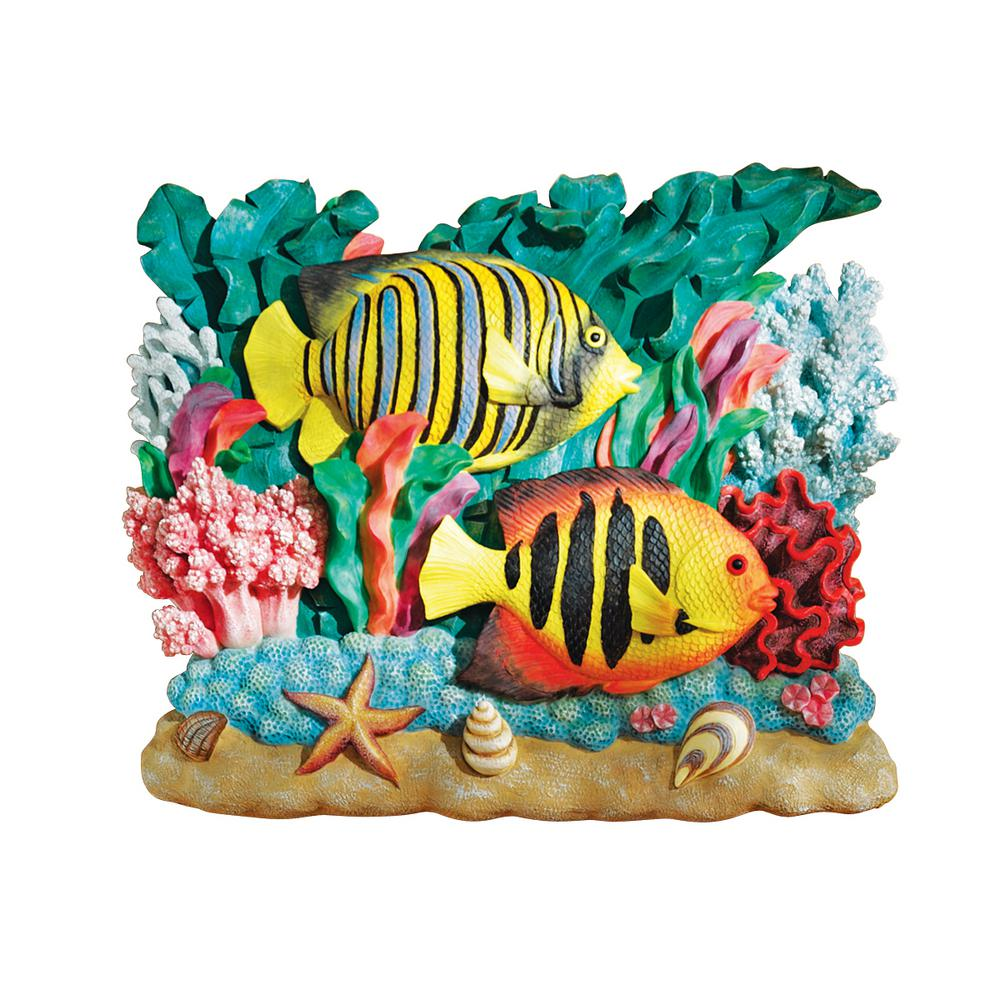 15 in. H The Great Barrier Reef Royal Angelfish Wall Sculpture