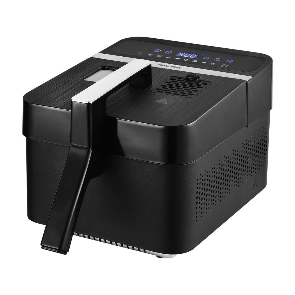 3.5 Qt. Black 2 in. 1-Digital Deep and Air Fryer