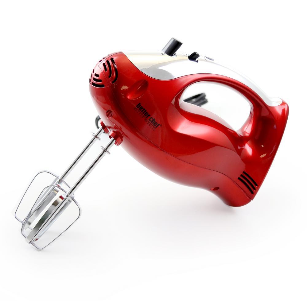 5-Speed Red Hand Mixer