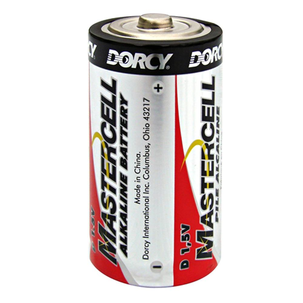 Master Cell Long-Lasting D-Cell Alkaline Manganese Battery (4-Pack)