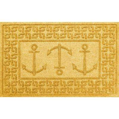 Yellow 24 in. x 36 in. Ahoy! Polypropylene Door Mat
