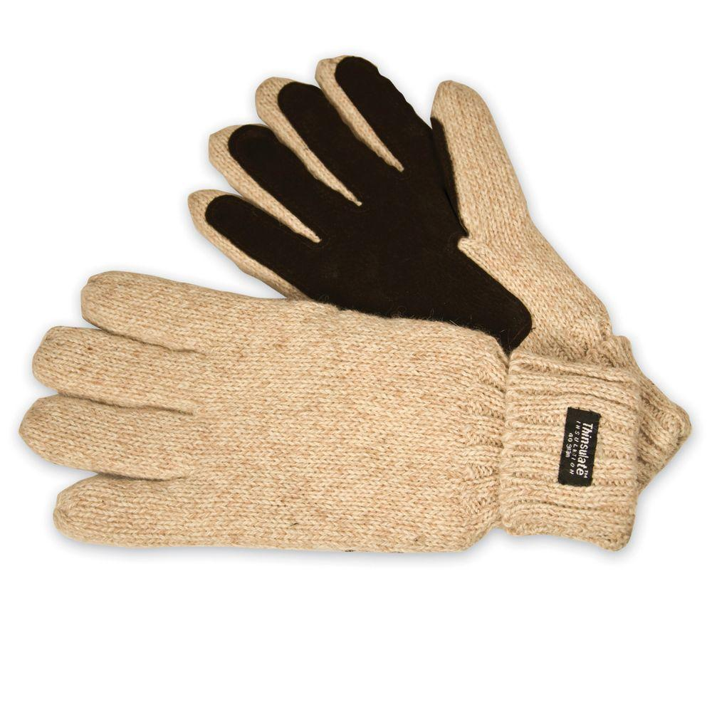 Raider Knit Full Finger Medium Gloves in Oatmeal-DISCONTINUED