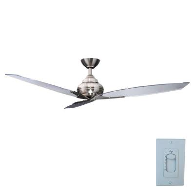 Florentine IV 56 in. Indoor Brushed Nickel Ceiling Fan with Wall Control
