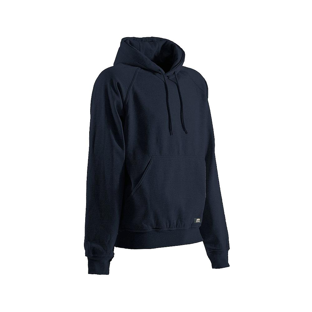 29d53610b Berne Men's Medium Tall Navy Cotton and Polyester Fleece Thermal Lined  Hooded Pullover Sweatshirt