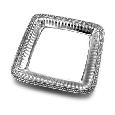 Flutes and Pearls 11.75 in. Medium Square Serving Tray