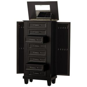 Internet #207058453. Home Decorators Collection Black Jewelry Armoire
