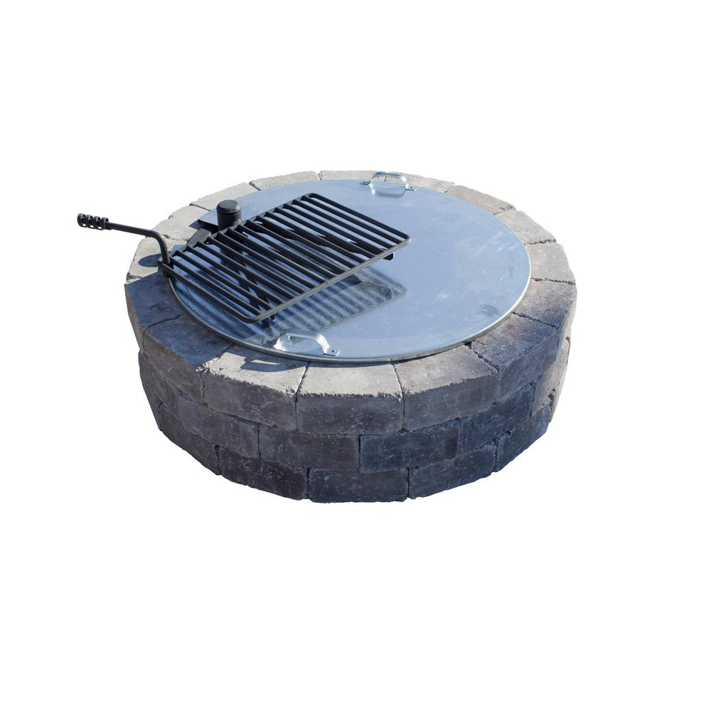Necessories 34 in. Fire Pit Cover with Slot