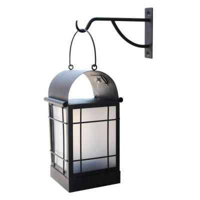 Moonrays Arched 1 Light Black Outdoor