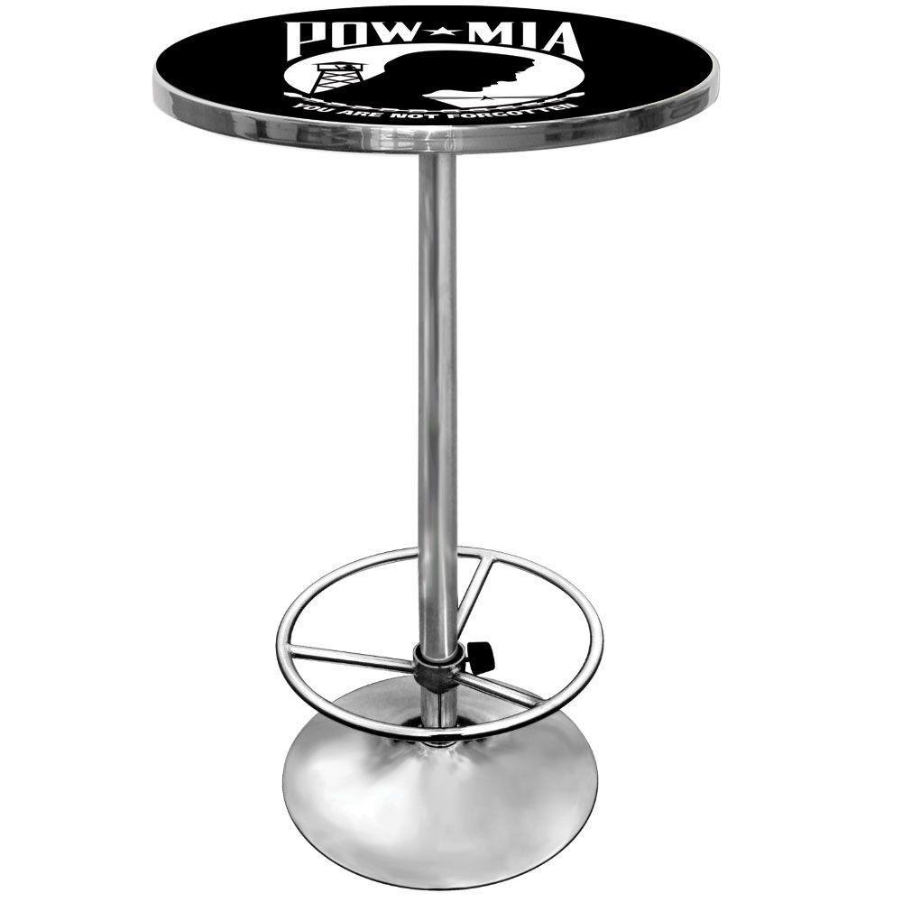 Trademark POW Chrome Pub/Bar Table, Pow Black