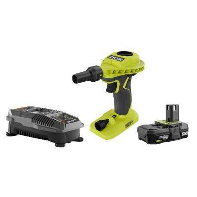 18-Volt ONE+ Cordless High Volume Power Inflator with 18-Volt ONE+ Lithium-Ion 2.0 Ah Battery and Charger Upgrade Kit