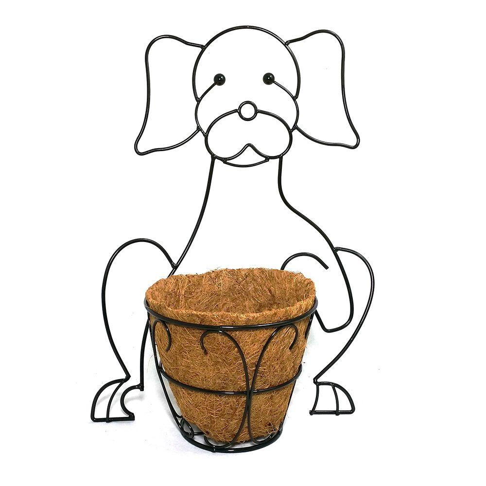 Patio Life Garden Companions Dog Planter With Coco Liner 81014 The Home Depot