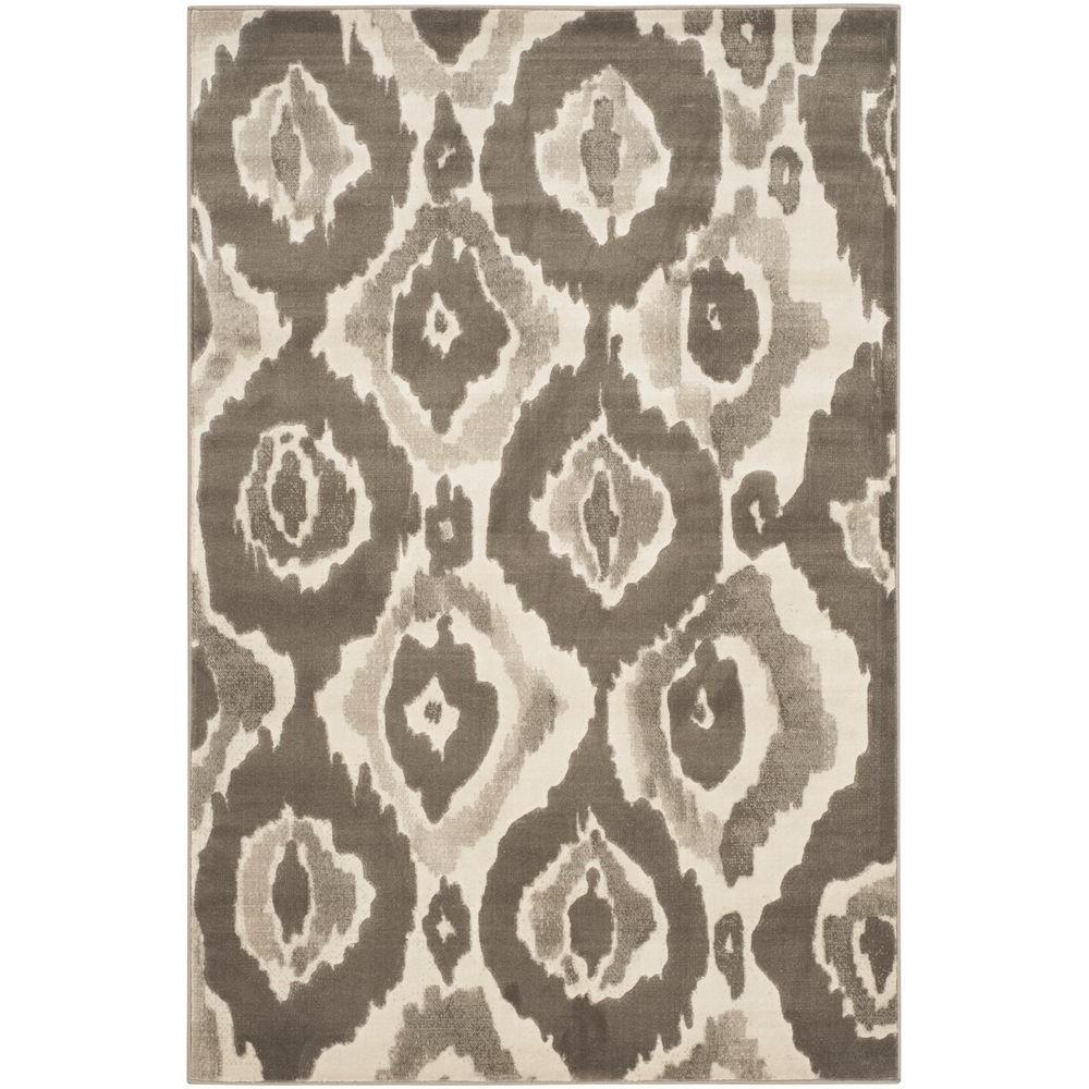 Porcello Ivory/Dark Grey 3 ft. x 5 ft. Area Rug