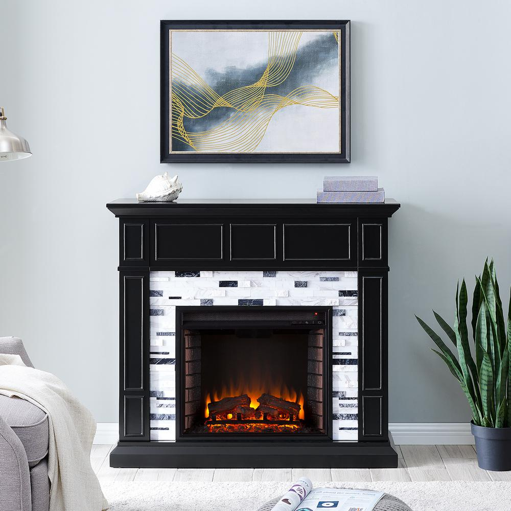 Southern Enterprises Etta Marble 46 In Electric Fireplace