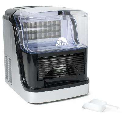 33 lb. Portable Automatic Ice Maker in Silver