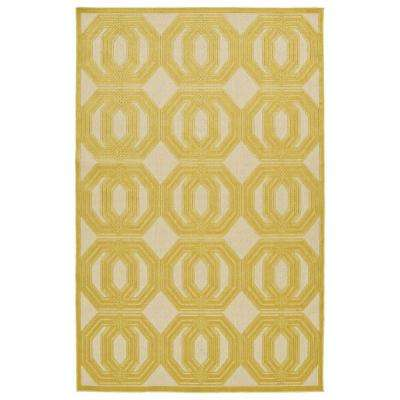 Five Seasons Gold 9 ft. x 12 ft. Indoor/Outdoor Area Rug