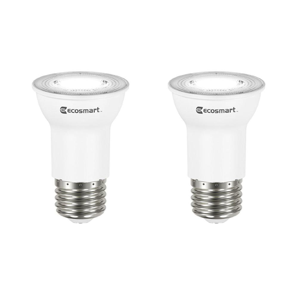 EcoSmart 35-Watt Equivalent PAR16 Dimmable Energy Star Flood LED Light Bulb Bright White (2-Pack)