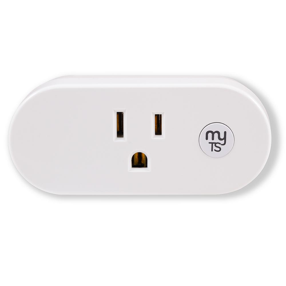 myTouchSmart Wi-Fi Plug-In Indoor Smart Switch, White