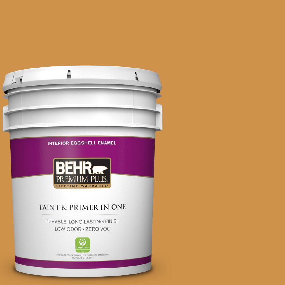 5 gal. #M260-6 Sweet Mustard Zero VOC Eggshell Enamel Interior Paint