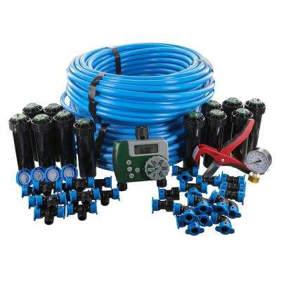 2-Zone In-Ground 1/2 in. Sprinkler System with Hose Faucet Timer