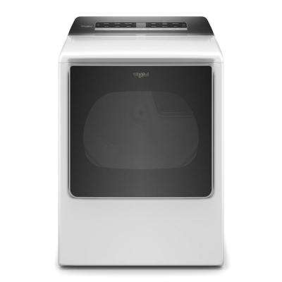 8.8 cu. ft. 120-Volt Smart White Gas Dryer with Steam and Advanced Moisture Sensing Technology, ENERGY STAR