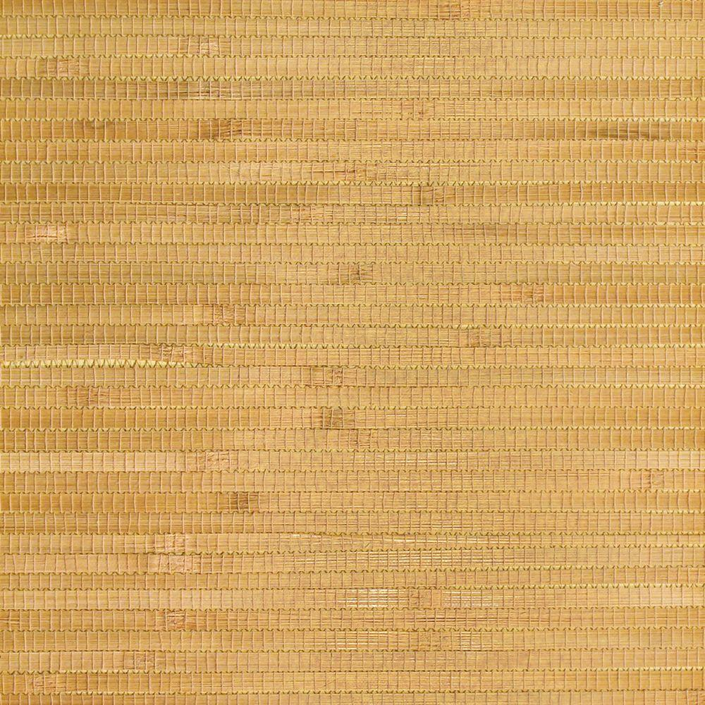 The Wallpaper Company 72 sq. ft. Butterscotch Pacific Reed Wallpaper-DISCONTINUED