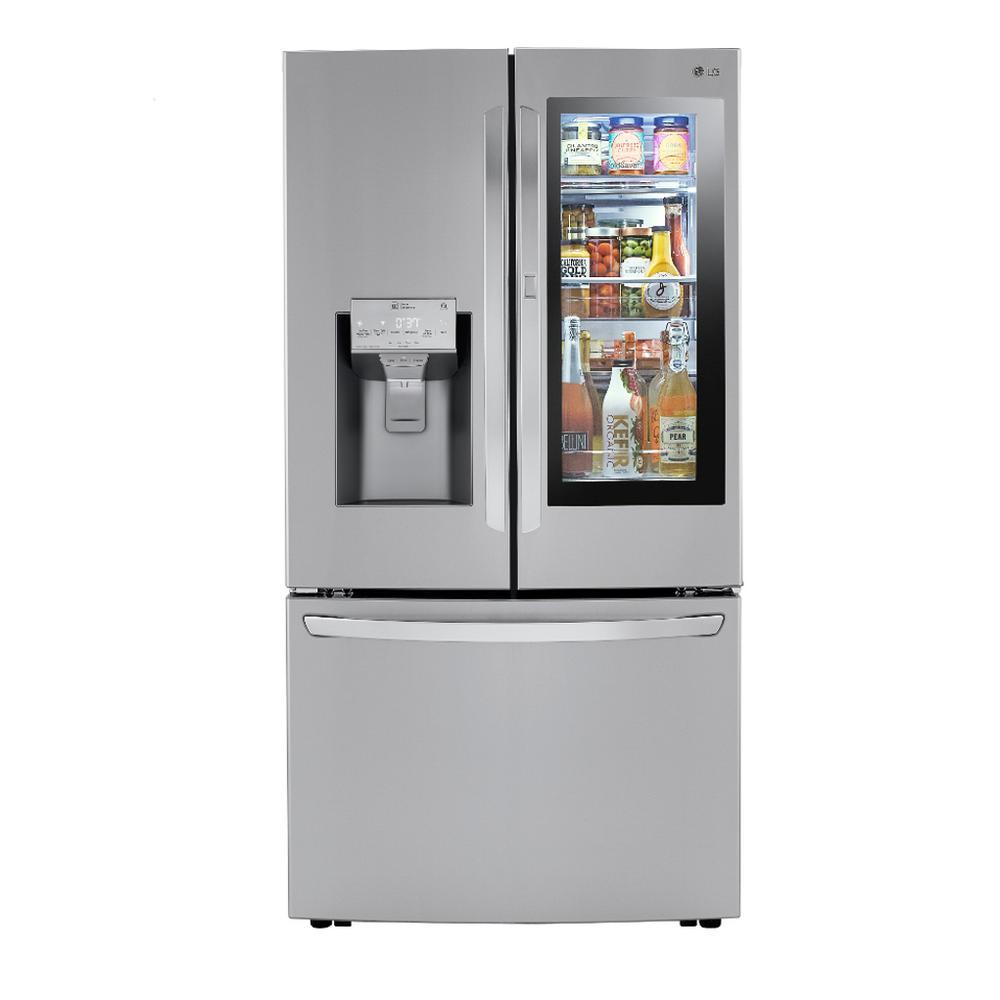 23.3 cu. ft. French Door Refrigerator InstaView Door-In-Door, Dual and Craft Ice in PrintProof Stainless, Counter Depth