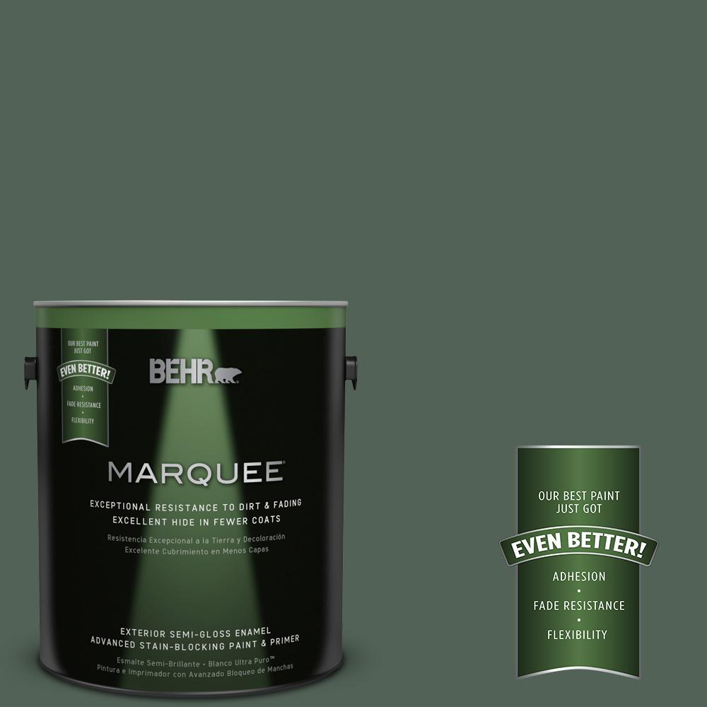 1-gal. #460F-6 Medieval Forest Semi-Gloss Enamel Exterior Paint