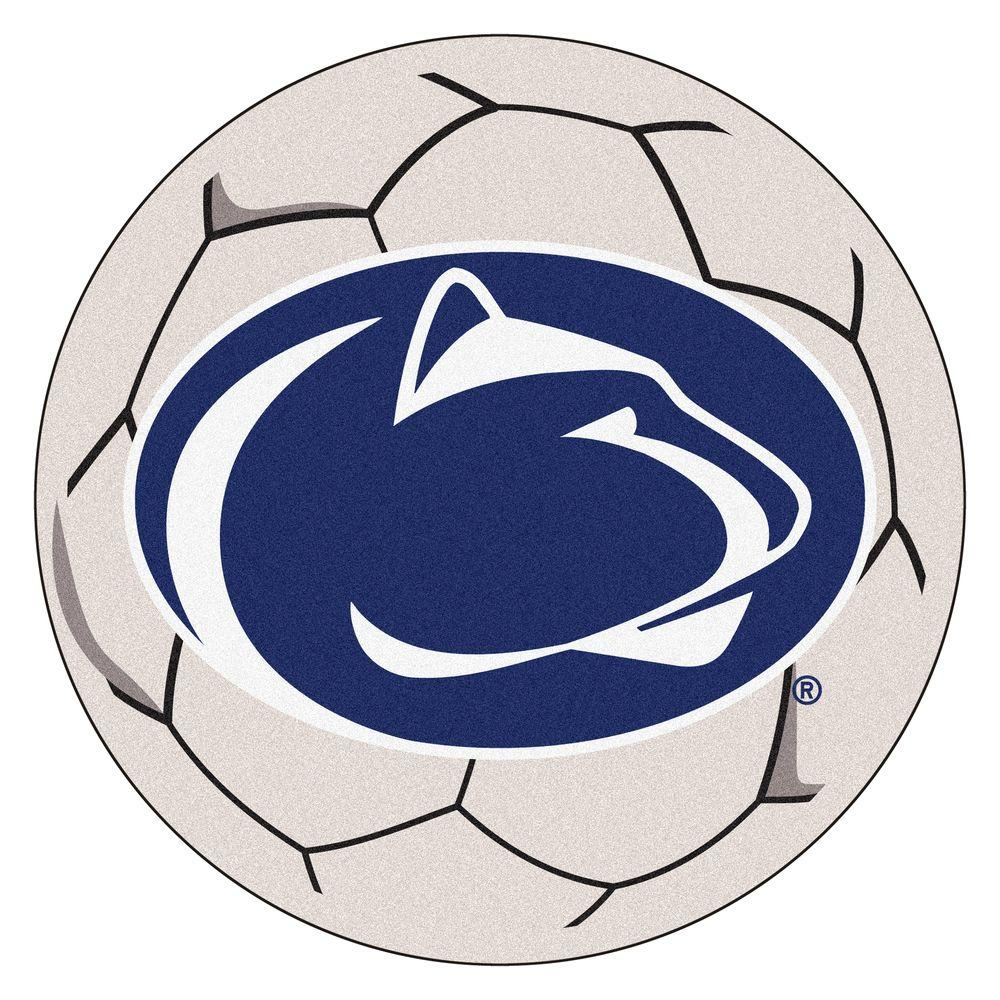 Ncaa Penn State University Cream (Ivory) 2 ft. 3 in. x 2 ft. 3 in. Round Accent Rug