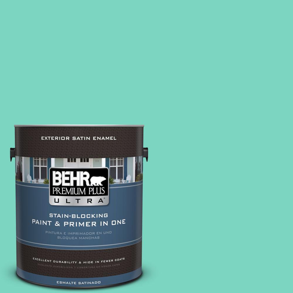 BEHR Premium Plus Ultra 1-gal. #P430-3 Green Parakeet Satin Enamel Exterior Paint