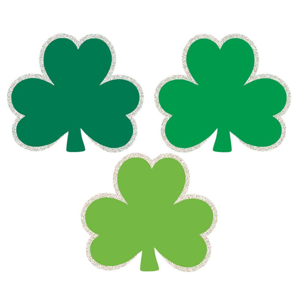 St. Patrick s Day Green Paper Shamrock Cutout Assortment (50-Count e8fe00d02e7b