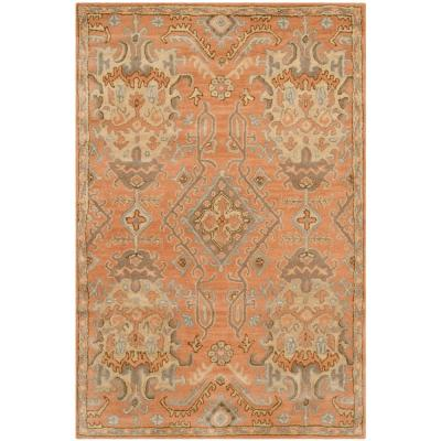 Wyndham Terracotta 4 ft. x 6 ft. Area Rug