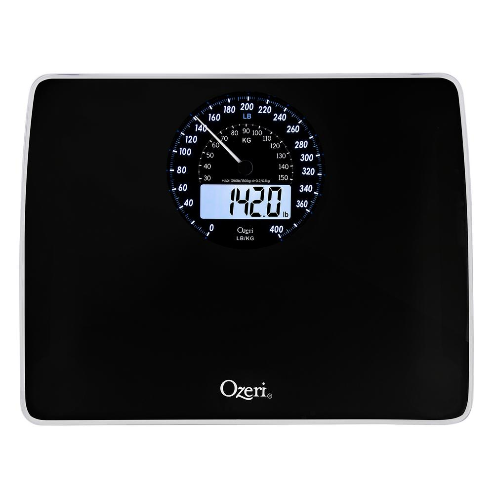 Ozeri Rev Digital Bathroom Scale With Electro Mechanical Weight Dial ZB23 B    The Home Depot