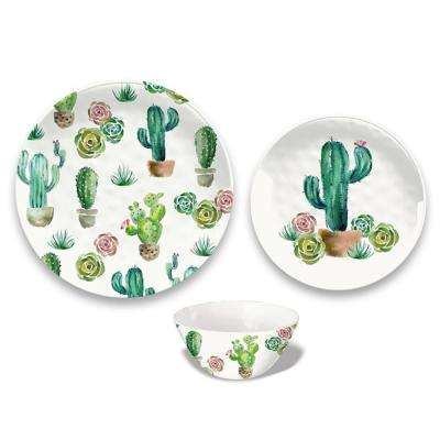 Desert Garden 12-Piece Gloss Dinnerware Set