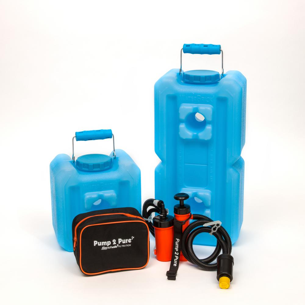 Blue Water Storage Container Filtration System Bundle 3 Piece