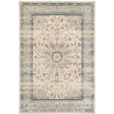 Persian Garden Vintage Ivory/Light Blue 8 ft. x 11 ft. Area Rug