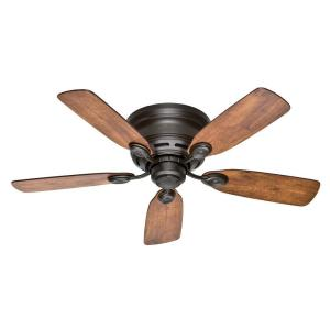 Hunter Low Profile IV 42 inch Indoor New Bronze Ceiling Fan by Hunter