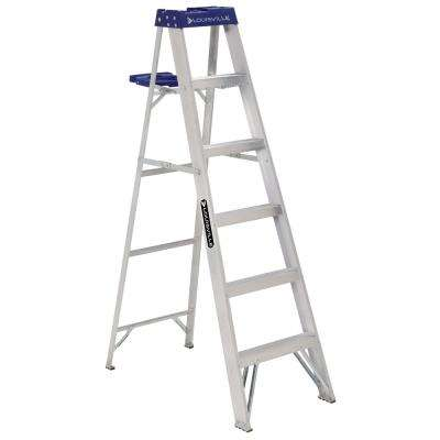 6 ft. Aluminum Step Ladder with 250 lbs. Load Capacity Type I Duty Rating