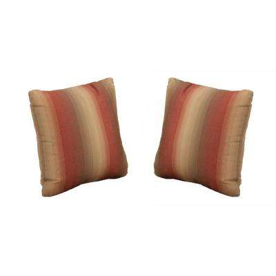 Beverly Red Outdoor Throw Pillow (2-Pack)