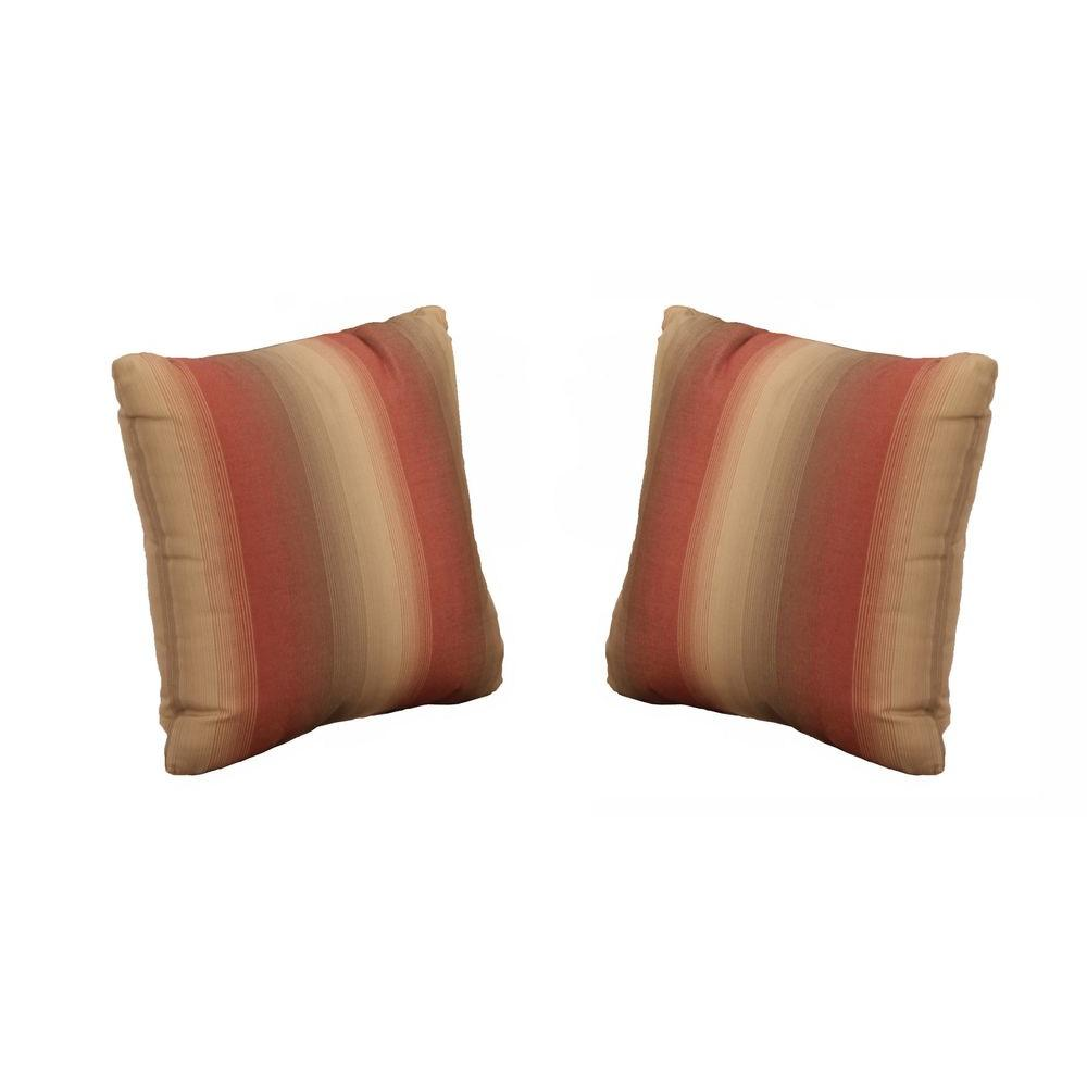 Hampton Bay Beverly Red Outdoor Throw Pillow 2 Pack 89 23304 The