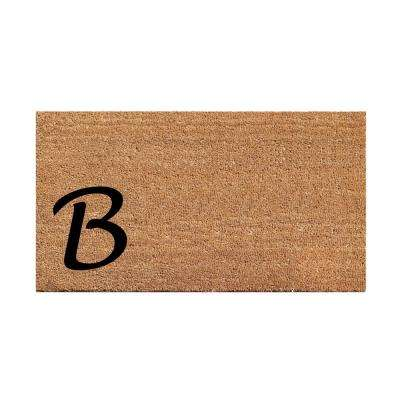 A1HC First Impression Plain 18 In. X 30 In. Coir Monogrammed B Door Mat