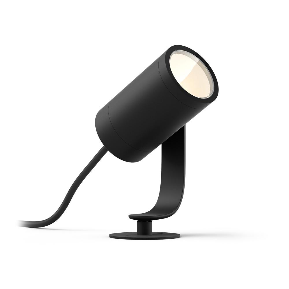 Philips Hue White and Color Ambiance Lily Black Outdoor Integrated LED  Landscape Smart Wireless Light Extension
