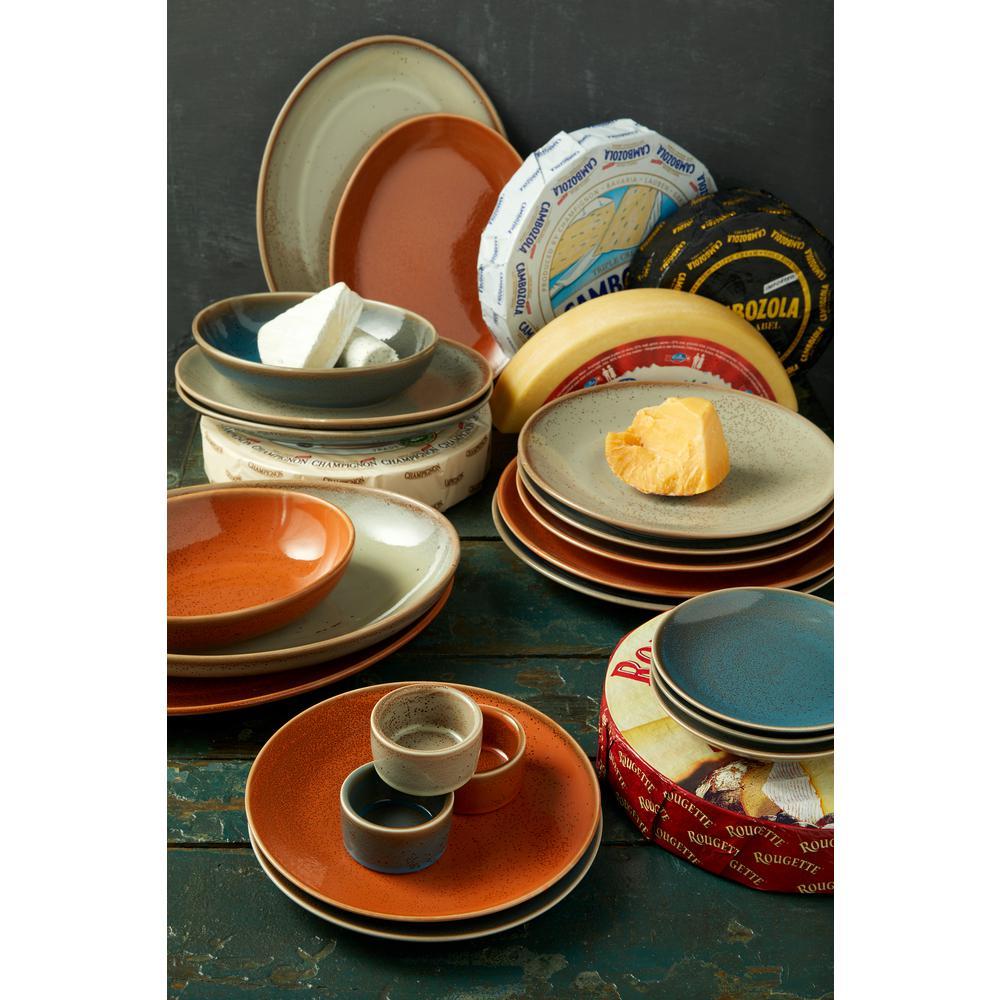 Oneida Dusk Porcelain Oval Round Bowls 29 5 Oz Set Of 24 F1493020787 The Home Depot