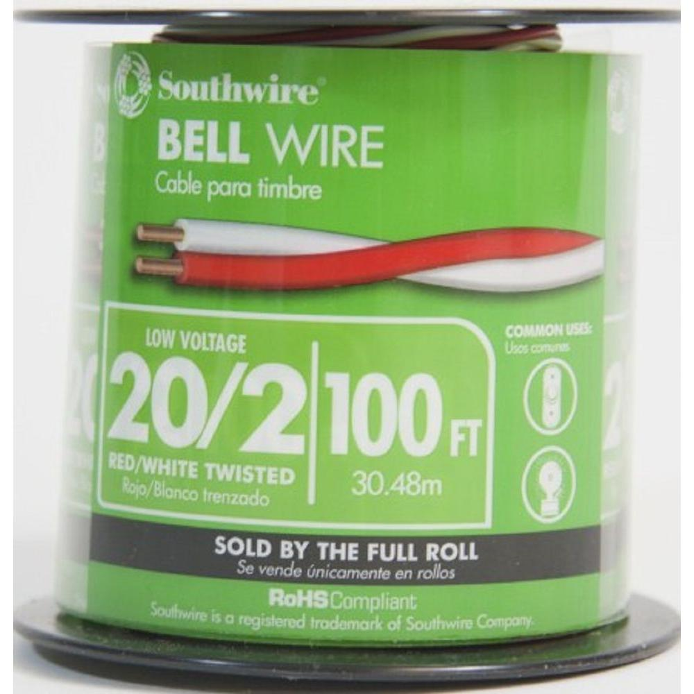 Doorbell Wire The Home Depot Household Wiring 20 2 Twisted Cu Bell