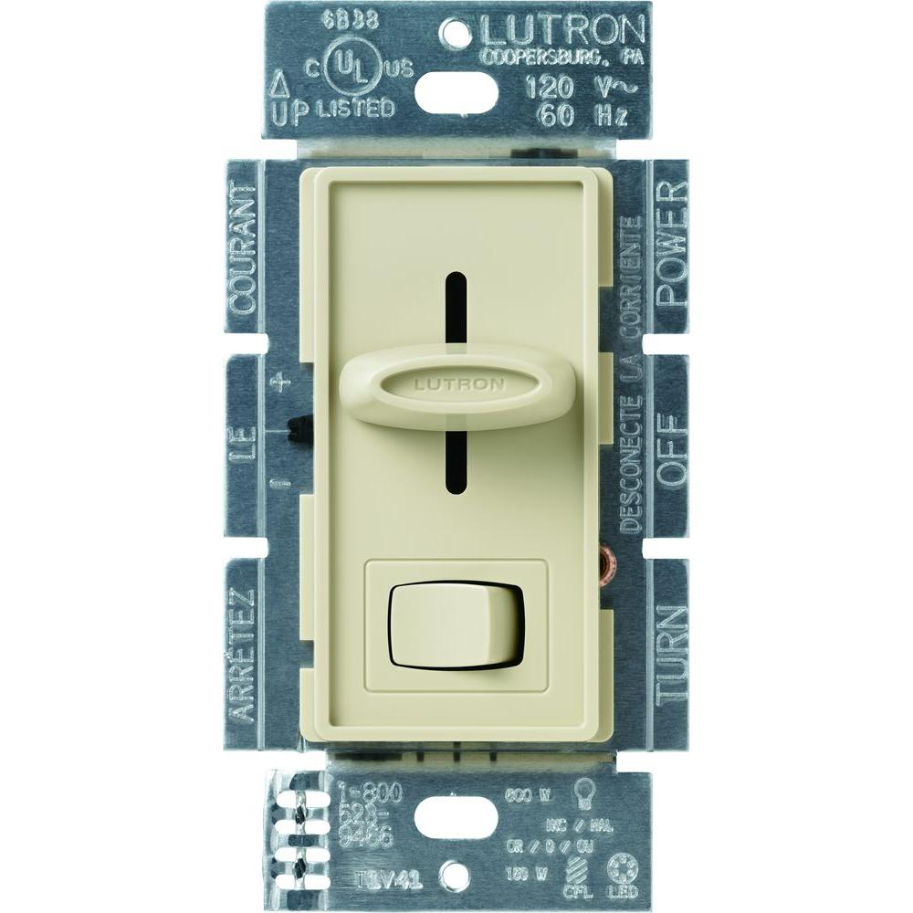 Dual 3 Watt Led Lamp Schematic Dimmers Wiring Devices Light Controls The Home Depot Skylark Cl Dimmer Switch For Dimmable Halogen And Incandescent Bulbs