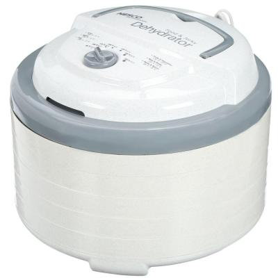 Snackmaster Pro 5-Tray White Food Dehydrator with Temperature Control