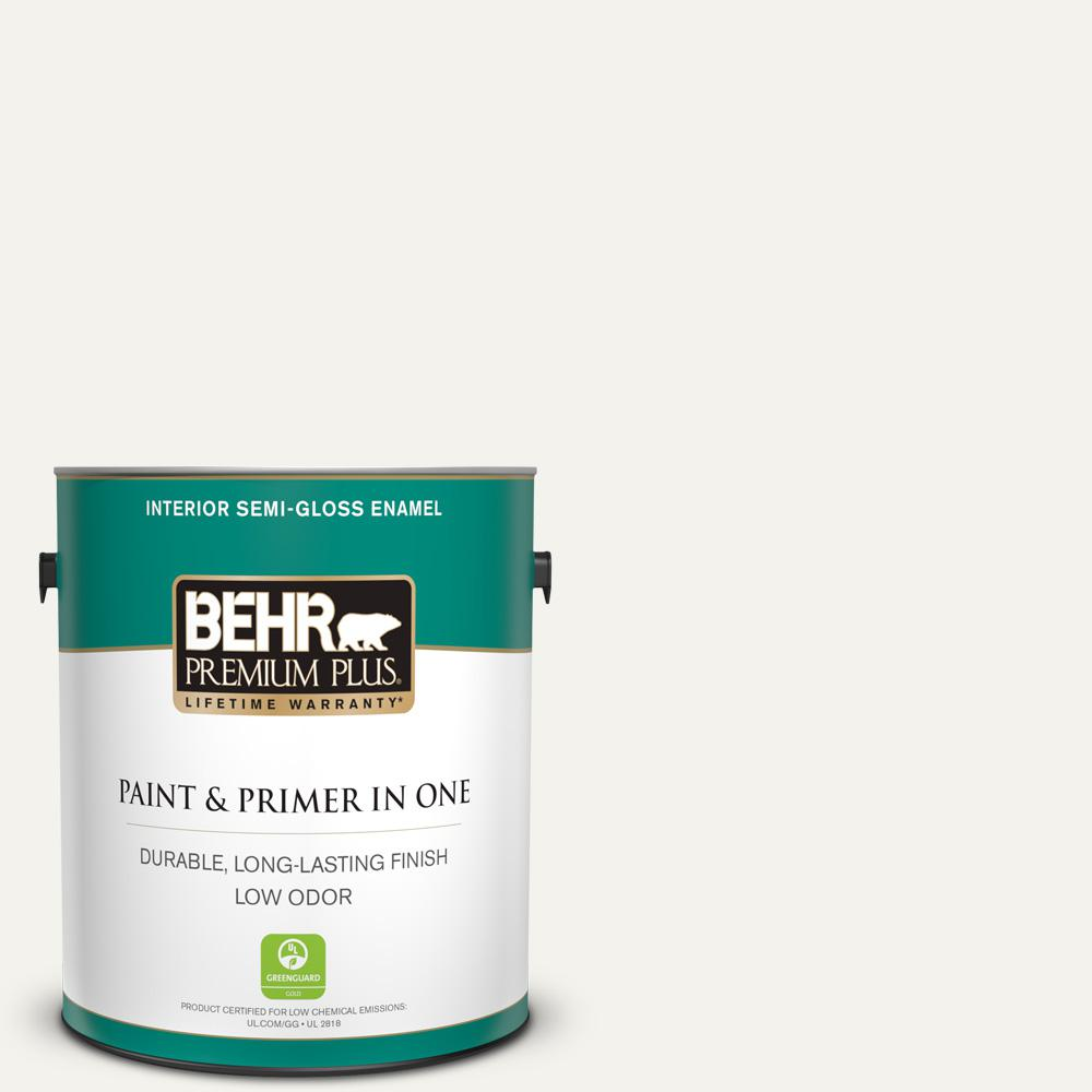 Home Decorators Collection Hdc Md 08 Whisper White Semi Gloss Enamel Low Odor Interior Paint Primer