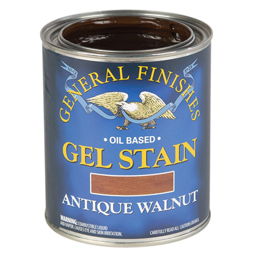 General Finishes Gel Stain Pint Or Furniture Oil Topcoat: General Finishes 1-qt. Antique Walnut Oil-Based Interior